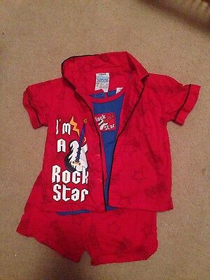 Rock Star 3 piece PJ set Size 0