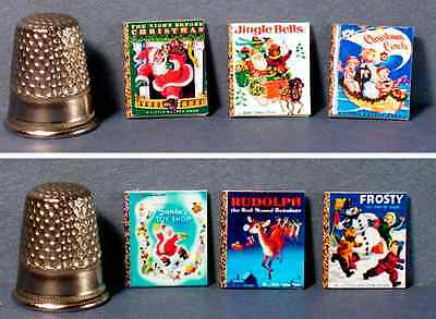 Dollhouse Miniature Set of 6 Little Golden Books  Classic Christmas Covers
