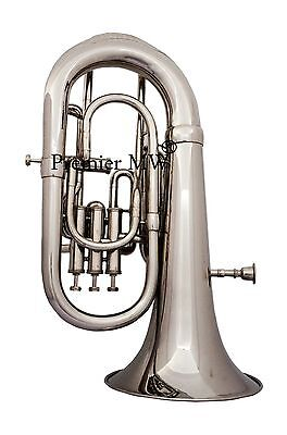 Premier MW 4 VALVE Bb PITCH EUPHONIUM NICKEL/SILVER PLATED POLISHED  WITH CASE