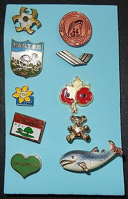 Mixed Lot Of Ten Collector Pins (B)