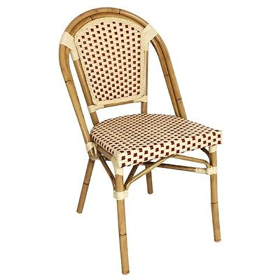 Bolero Continental Bistro Faux Wicker Side Chairs (Pack of 4)