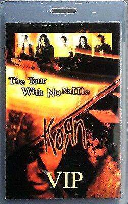 ***** Korn ***** - Laminated Backstage Pass - Vip - The Tour With No Name - 2002