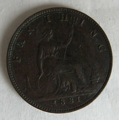 1881 Farthing Victoria Coin                    (Inv12942)