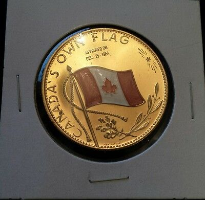CANADA's Own Flag Gold Plated Enameled Coloured Centennial  1867-1967