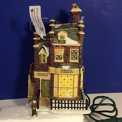 Dept 56 SCROOGE & MARLEY COUNTING HOUSE Mini w/box Dickens Village Ornament