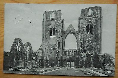 SCOTLAND POSTCARD: Elgin Cathedral  the Navel