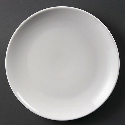 Olympia Whiteware Coupe Plates 250mm