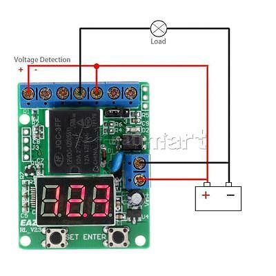 DC 12V Voltage Monitor Test Charging Discharge Relay Switch Control Board Alarm