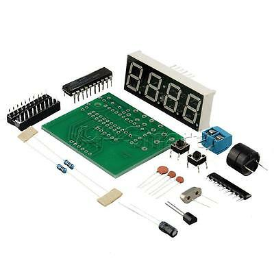 New 4 Bits Digital AT89C2051 Electronic Clock Production Suit Set DIY Kit