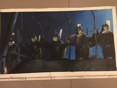 Elves Lord of the Rings Original Acryl / Öl Bild Painting ARTWORK Leinwand