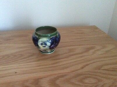 A very rare William Moorcroft Pansy small vase in mint conditio