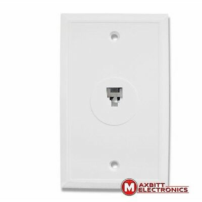 Telephone Female Jack Outlet Socket Wall Plate One Port RJ11