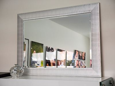 New LARGE Silver framed mirror.WHOLESALE! Was $260 Now $175.Optional delivery