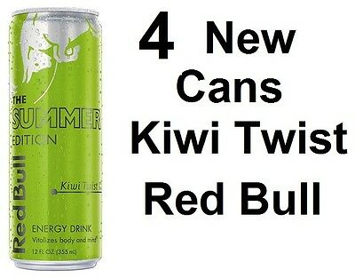 4 New Red Bull Summer Edition Kiwi Twist 12 Oz Unopened Cans
