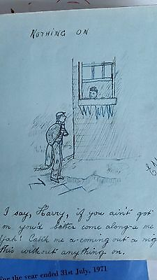 1914-1920's autograph book, many drawings