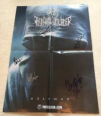 Thy Art Is Murder SIGNED Holy War Poster & Fabric Patch