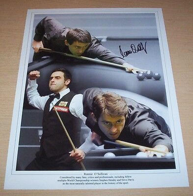 Ronnie O'Sullivan - Snooker Signed 16x12 Montage Photo