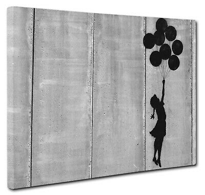 Banksy Canvas Balloon Girl Print Wall Art A1 20X30 INCH x Large Picture