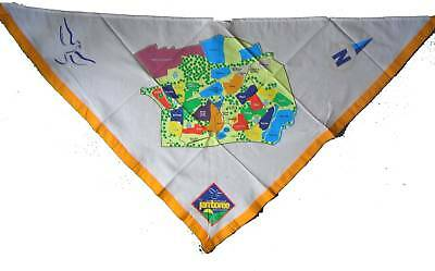 2007 21st WORLD SCOUT JAMBOREE CAMPSITE MAP SCARF / NECKERCHIEF BNIP