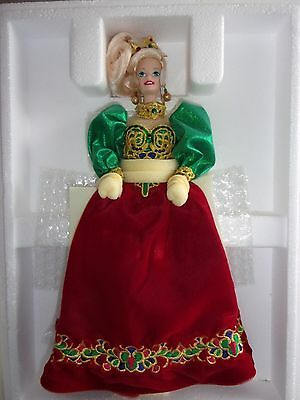 Mattel Holiday Porcelain Barbie Doll Collection Holiday Jewel NIB MINT