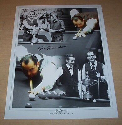 Ray Reardon - Snooker Signed 16x12 Montage Photo - PROOF