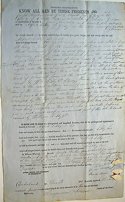 1855 Deed – 25 Acres in Grey, Maine sold to Alfred Libby