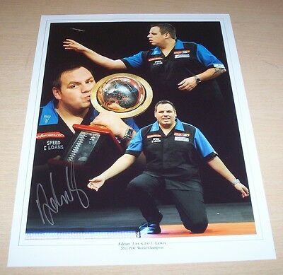 Adrian Lewis - Darts Signed 16x12 Montage Photo - PROOF