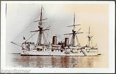 Dimitrii Donskoi Russian Armoured Cruiser. Rare Real Photographic Card c1902.