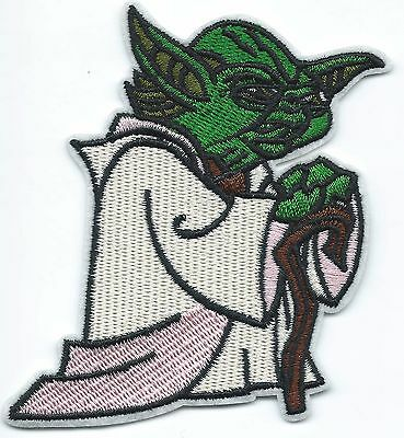 Yoda Embroidered Patch Iron-on Art Good Luck Charm Magic Star Wars