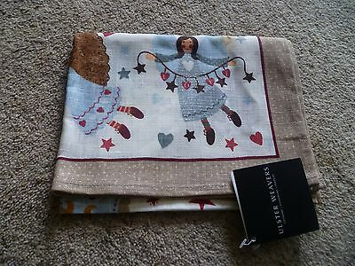 'ulster Weavers'   Beige  With  Variety  Of  Angels &  Hearts