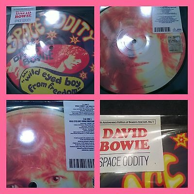 """DAVID BOWIE """"SPACE ODDITY"""" 7' picture 40th anniversary limited sealed"""