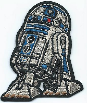 R2D2 Embroidered Patch Iron-on Art Good Luck Charm Magic Star Wars
