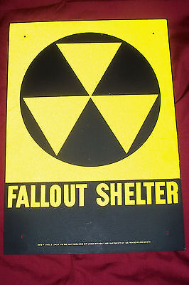 Fallout Shelter Sign US Government Metal Tin Military Army Zombie Nuclear War