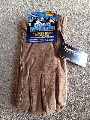 West Chester Cold Weather Split Cowhide  Leather Gloves  Men's  Large
