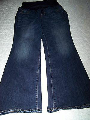 Old Navy Maternity Blue Jeans Size 16 Long Full Panel Dark Wash Boot Cut