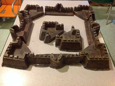 vintage toy castle, fort with interchangable walls, towers etc