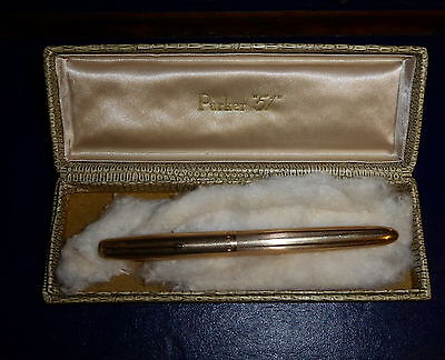 VINTAGE PARKER 51 INSIGNIA 12ct ROLLED GOLD FOUNTAIN PEN, BOXED.