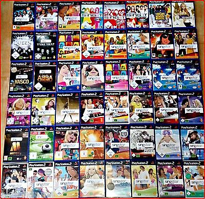 PS2 Singstar: Schlager, Disney, SingIt, Deutsch, Rock, Pop; Ballads, ABBA; Ski