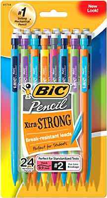 Bic Pencil Bic Lead Pencils Bic Extra Strong Pencil Bic Mechanical Pencils 24Pcs