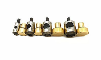 4mm - 20mm Brass Hollow Punch Set Leather Hole Cutter Tool Blue Hand Machine AAX