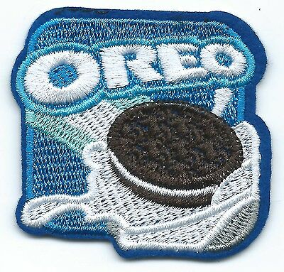 Oreo Embroidered Patch Iron-on Motif 6.3cm Art Good Luck Magic Charm