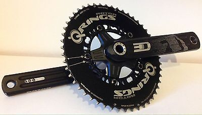 ROTOR 3D Crankset 172.5 - 110 BCD - with Compact (50/34) Aero QRINGS - 7075 CNC