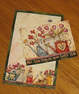 Live With An Open Heart Debi Hron Art 2002 Lang Main Street Press Note Cards 4ct