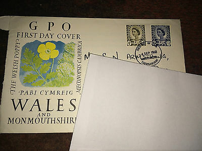 GB Stamps - QEII - Wales and Monmouthshire First Day Cover 1968