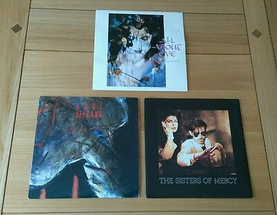 "Goth Alt Rock Job Lot 3x UK 7"" All About Eve Andi Sex-Gang The Sisters Of Mercy"