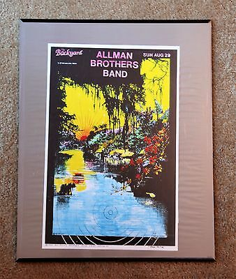 Allman Brothers Band Concert Poster 1993 Mint