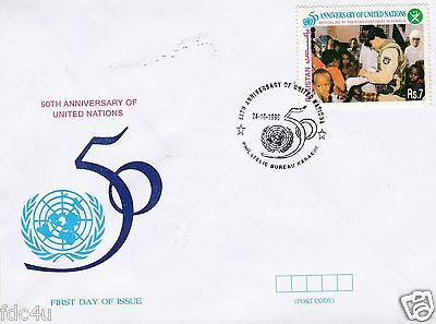 Pakistan Fdc 1995 & Stamp United Nation Medical Aid by Pakistan Army Somalia