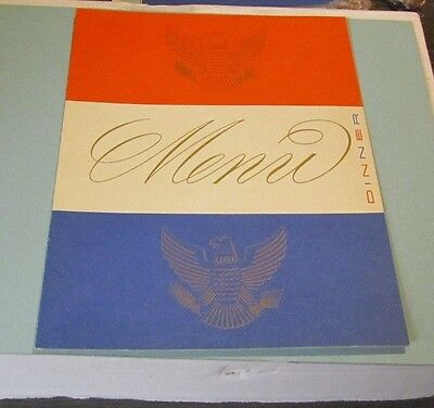 February 28 1953 SS United States Cruise Ship Dinner Menu Red White Blue Eagles