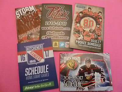 2016/ 17 OHL schedules lot