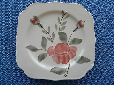 Blue Ridge Pottery Tea Rose Square Plate Cute Southern Decorative Collectible